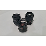 Professional Camera Lenses Lot of 3