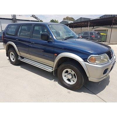 12/2000 Mitsubishi Challenger (4x4) PA 4d Wagon Blue 3.0L