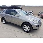 3/2006 Mercedes-Benz Ml 500 Luxury (4x4) W164 4d Wagon Silver 5.0L
