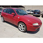 12/2002 Alfa Romeo 147 2.0 TWIN Spark  3d Hatchback Red 2.0L