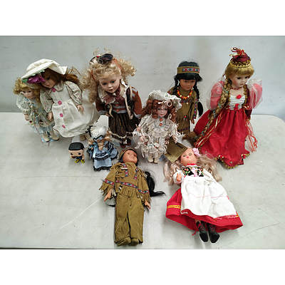 Collectible Dolls Lot of 10