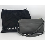 Brand New Sportscraft Womens Sasha Dual Zip Leather Sling Gray Handbag
