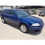 9/2002 Volkswagen Passat V6 S 3B 4d Wagon Blue 2.8L