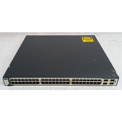 Cisco Catalyst (WS-C3750G-48PS-S V06) 3750G Series PoE-48 48-Port Gigabit Managed Switch