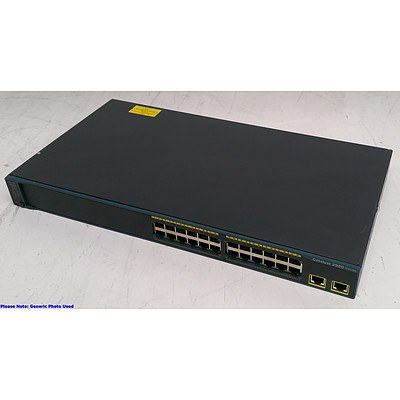 Cisco Catalyst (WS-C2960-24TT-L) 2960 Series 24-Port Fast Ethernet Switches - Lot of Three