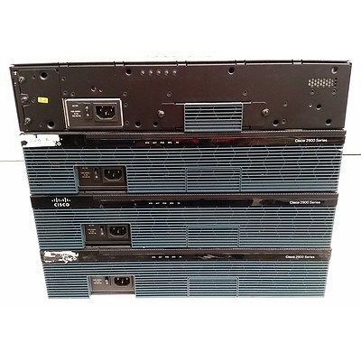Cisco 2900 Series Integrated Services Router - Lot of Four