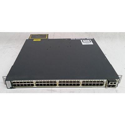 Cisco Catalyst (WS-C3750E-48PD-SF V05) 3750-E Series PoE-48 48-Port Gigabit Managed Switch