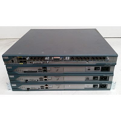 Cisco 2800 Series Integrated Service Routers - Lot of Four