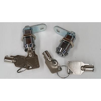 Make Locks 25mm Radial Pin Cam Locks - Lot of 100 - Brand New