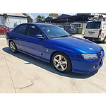 11/2004 Holden Commodore SV6 VZ 4d Sedan Blue 3.6L