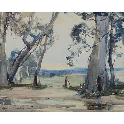 HERBERT Harold B (1892-1945) View to Pastures 1939