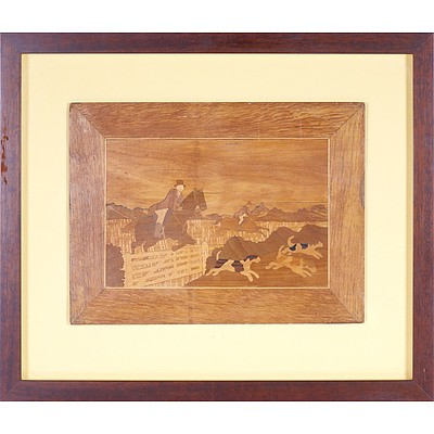 Marquetry Hunting Scene