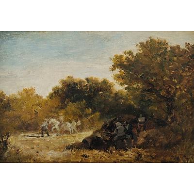 COX David (British 1783-1859) 'A Woodland Ambush'