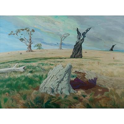 GUTHRIE Tim (1933-1991) 'Manna Gum Death, Northern Tasmania' 1987
