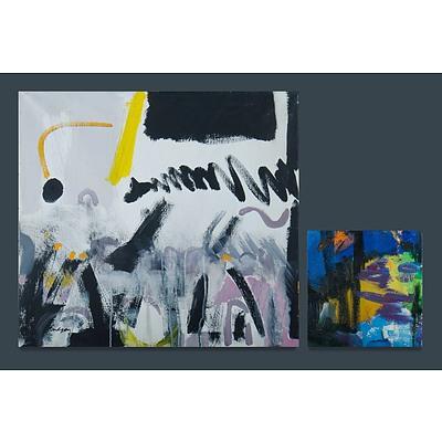 Australian School, Two Works, Beverley BUDGEN (b.1937) 'Bar Noise' Acrylic on Canvas & Sylvia DITCHBURN 'Forest Fragment No.11' Oil on Canvas