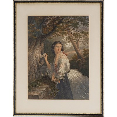 George Baxter Chromolithograph Dated 1856