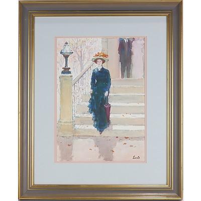 Gerrard George Lants (1927-98) Portrait of a Woman, Watercolour