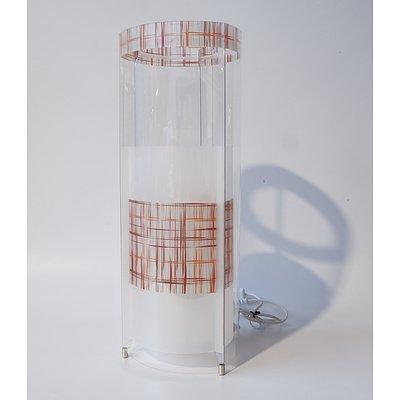 SLAMP Kristall Medium Table Lights Texture - RRP $380 - Brand New