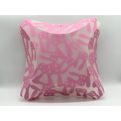 SLAMP Plana Conigli Pink Rabbits Medium Wall Lights Pink - RRP $425 - Brand New