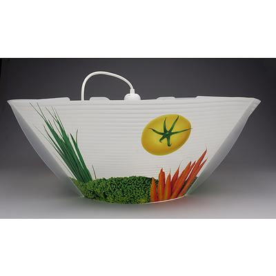 SLAMP Kitchen Art Suspension Applique Ceiling Lights in Vegetables- Lot of Two- RRP $510.00 - Brand New