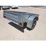 2/2011 Galvanized 6x4 Metal Box Trailer