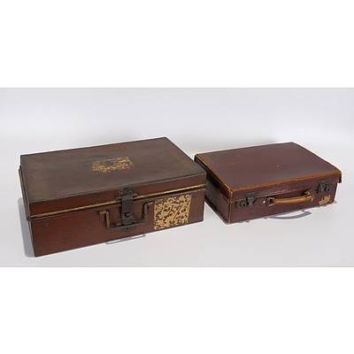 Large Metal Deed Box, No Key But Can Be Padlocked