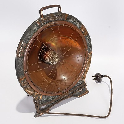 Electric Beehive Heater 'Formost Fire', Copper Reflector with Copper-Plated Cast Iron Base
