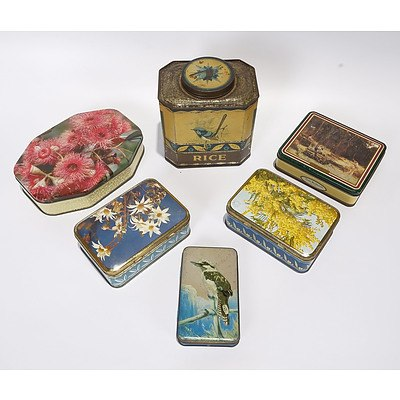 6 X Assorted Tins, Allens, Sweetacres X 2 and Others