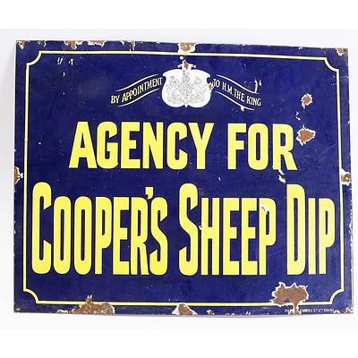 Agency For Cooper Sheep Dip Enamelled Sign