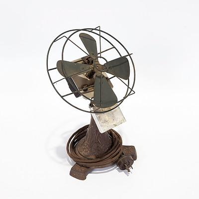 Electric Fan with Decorative Cast Iron Base
