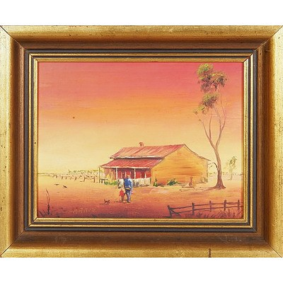 'Old Country House' - Peter Parris, Oil On Board