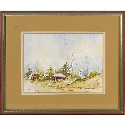 'Bargo Way' - M Southgate, Watercolour Framed Under Glass