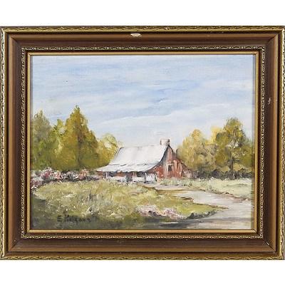 'Old House' - E Kilgour, Oil On Board
