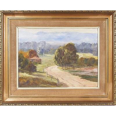 'Rural Scene' - Henry Malone, Oil On Board
