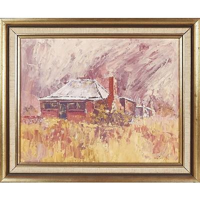 'Bush Cottage in Mudgee' - Ian Web, Oil On Board