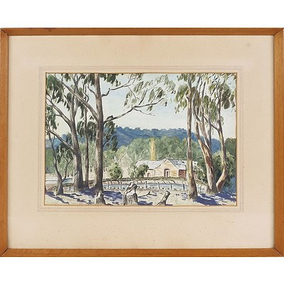 'Old Winery, Castlemaine', Watercolour Framed Under Glass