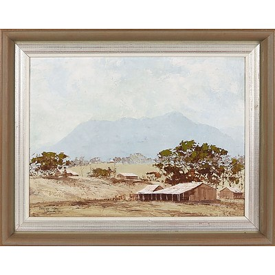'Bellinger Valley' - T Thomas 1975, Oil On Board