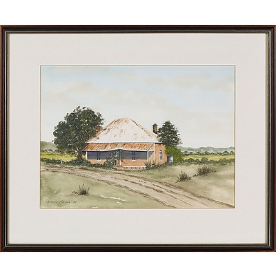 'Old Country Cottage' - Doreen Harris 1987, Watercolour Framed Under Glass