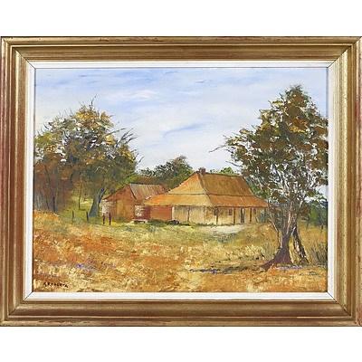 'Rose Cottage' - K Roberts, Oil On Board