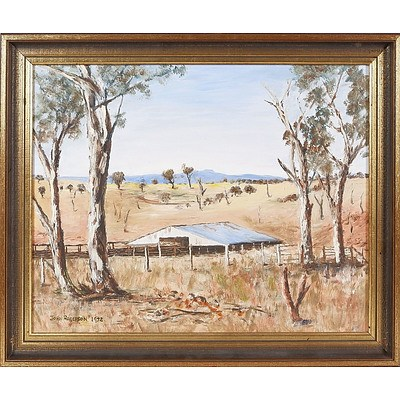 'Weather Shed, Pikedale' - John Rogerson 1972, Oil On Canvas