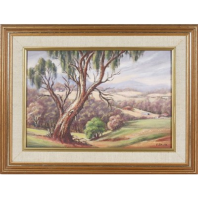 'At Mount Evelyn, Victoria' - Elma Smith 1984, Oil On Board