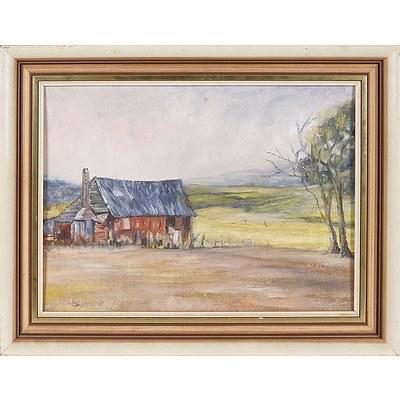 'The Sheppard's Hut, Batlow' - Marje Blyth 1980, Oil On Board