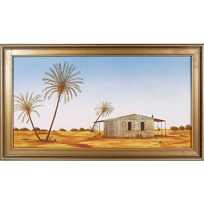 'Sunrise at Cossack, WA' - George Hodgkins 1975, Oil On Board