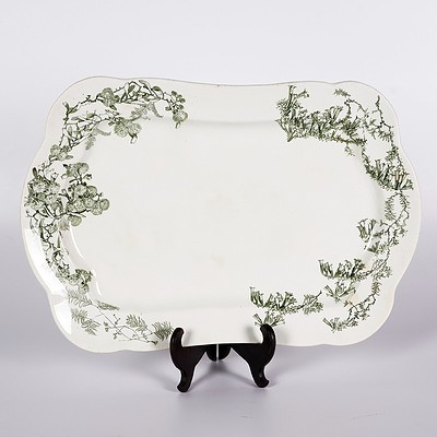 Royal Doulton Olive Green Wattle Meat Platter C.1900