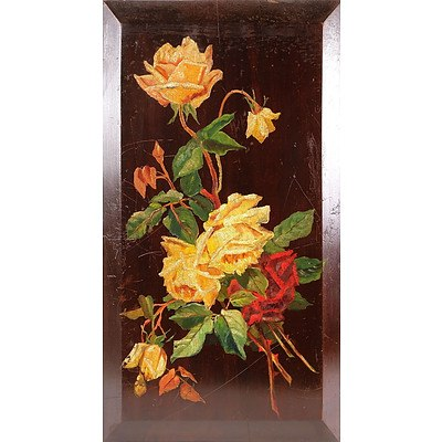Wooden Panel with Roses