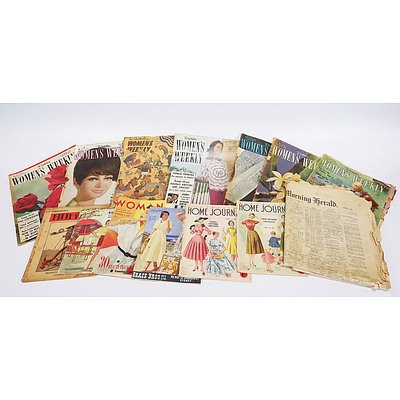 10 Assorted Women's Magazines 1950s/60s; SMH of 28 June 1939; and 'Humour' Magazine of 1 September 1933