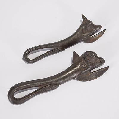 Two Bully Beef Cast Iron Tin Openers As Issued To Soldiers By British Army in WWI