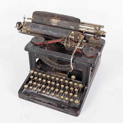 L C Smith Manual Typewriter, Model No 2, 1905-11