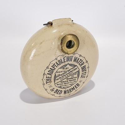 Stoneware 'The Adaptable Hot Water Bottle & Bed Warmer', The Old Fulham Pottery, 1910