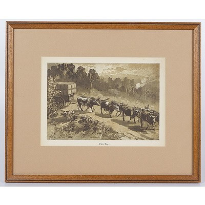 'A Wool Dray', Framed Print